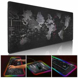 Led Gaming Mouse Pad With Lights Light Lighted Up Color Chan