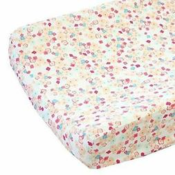 Love Notes Pastel Changing Pad Cover - Fits Standard Contour