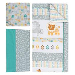 Trend Lab Lullaby Jungle 6 Piece Crib Bedding Set