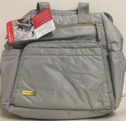 Skip Hop Mainframe Wide Open Diaper Backpack, Cement
