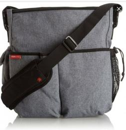 Skip Hop Messenger Diaper Bag, Duo Signature, Heather Gray N