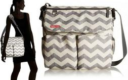 Infant Skip Hop 'Dash Signature' Messenger Diaper Bag - Grey