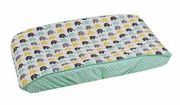 Bacati Unisex Mini Elephants Diaper Changing Pad Cover Cotto