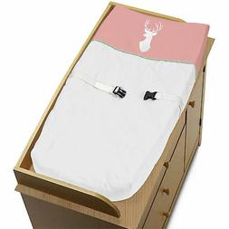 Sweet Jojo Mint Coral White Deer Changing Table Pad Cover Cr
