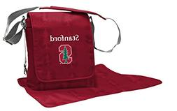 Lil Fan NCAA College Collection Diaper Messenger Bag, Stanfo