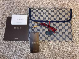 NEW $195 GUCCI Grey & Navy GG Diamanté Baby Changing Pad