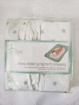 New Aden & Anais Playard Changing Table Pads White Cover Set