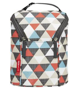 NEW Skip Hop Grab-and-Go Insulated Double Bottle Bag, Triang