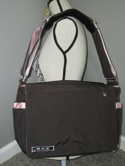 New Ju Ju Be Diaper Shoulder Bag Brown Pink Baby Changing Pa