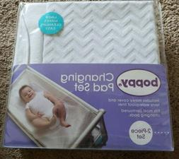 NWT Boppy Baby Infant Changing Pad Cover  Chevron White wate