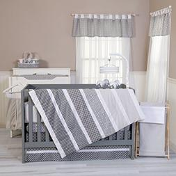 Trend Lab Ombre Gray 6-Piece Nursery Crib Bedding Set