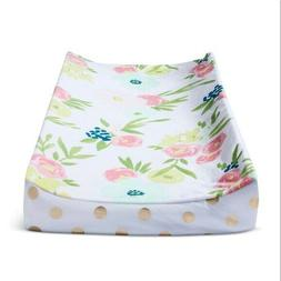Plush Changing Pad Cover Floral - Cloud Island Gold New