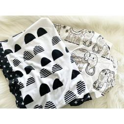 Plush Changing Pad Cover Scallop Cloud Island- Black/White S