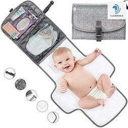 Portable Baby Changing Pad Diaper Clutch Waterproof, Built i