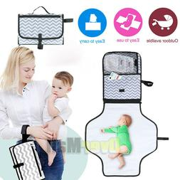 Portable Baby Folding Diaper Travel Changing Pad Mat Organiz