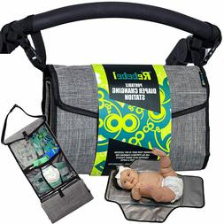 Portable Changing Pad Clutch with Convertible Shoulder –Ev