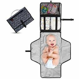 Portable Changing Pad - Diaper Clutch Lightweight Travel Sta