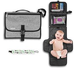 portable changing pad diaper clutch