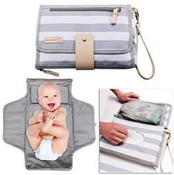 Portable Changing Pad Baby Diaper Station | Newborn Clutch B