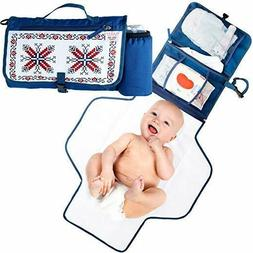 portable changing pad with detachable extension diaper