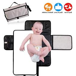 Portable Diaper Changing Pad for Baby 2 in 1 Waterproof, Lig