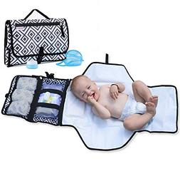 Portable Changing Pad for Diaper Bag w/ Head Pillow, Travel