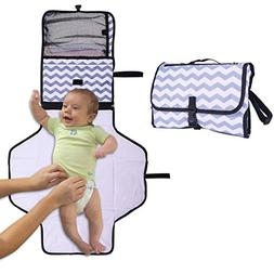 UMLIFE Portable Diaper Changing Pad Toddler Waterproof Clutc