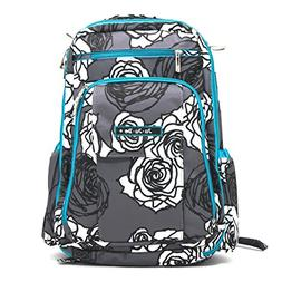 Ju-Ju-Be Be Right Back Backpack Diaper Bag - Charcoal Roses