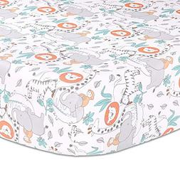 Safari Adventure Jungle Animal Theme Baby Fitted Crib Sheet