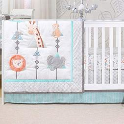 Safari Adventure 3 Piece Jungle Animal Theme Baby Crib Beddi
