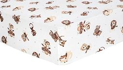 Trend Lab Safari Rock Band Flannel Crib Sheet