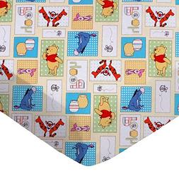 SheetWorld Fitted Sheet, Winnie The Pooh Patch, 100% Cotton
