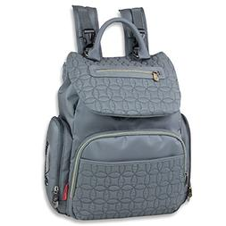 Fisher-Price Signature Quilted Flap Backpack Diaper Bag - Gr