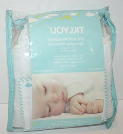 """TILLYOU Soft Waterproof Changing Pad Liner 3pk 11.5""""x23"""""""