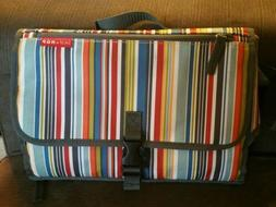 Striped Skip*Hop Diaper Changing Clutch-Padded Well-Lots of