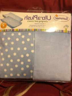 Summer Baby/Infant Ultra Plush Changing Pad Cover 2-Count, B