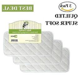 Superior Quilted Bamboo Changing Pad Liners Reusable Waterpr