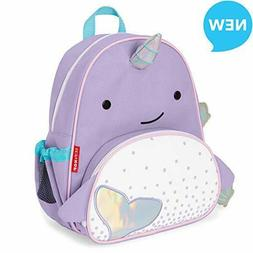 "Skip Hop Toddler Backpack, 12"" Narwhal School Bag, Multi, 0."
