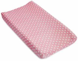 Summer Infant Ultra Plush Changing Pad Cover, Pink Dots for
