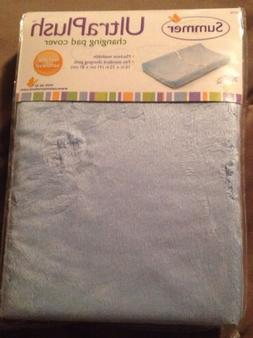 Summer Ultra Plush Changing Pad Cover - Baby Blue - NEW!