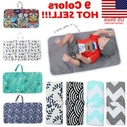 US Baby Portable Folding Diaper Travel Changing Pad Waterpro