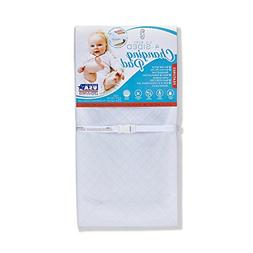 """waterproof 4 sided changing pad, 32"""" - made in usa. easy to"""