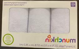 MUNCHKIN Waterproof Changing Pad Liners 3 Count Washable Pol