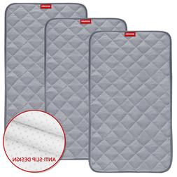 "Waterproof Changing Pad Liners Bamboo Quilted 3 Pack 14""x"
