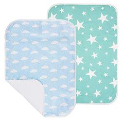 PEKITAS 2 Pack Waterproof Diaper Changing Pads Travel Friend