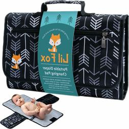 Waterproof Portable Changing Pad with Pockets for Diapers, W