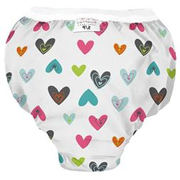 Kushies Baby Waterproof Training Pant , Doodle White Hearts,