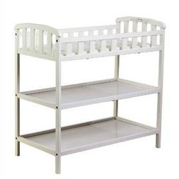 White Baby Diaper Changing Table with 1-inch Thick Changing