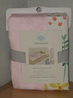 Cloud Island Wildflower Changing Pad Cover wipeable girls nu