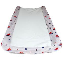 Wipeable Contour Baby Changing Pad Cover, Nautical Nursery,